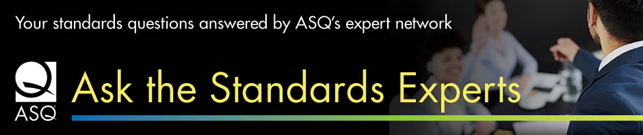 Ask the Standards Experts